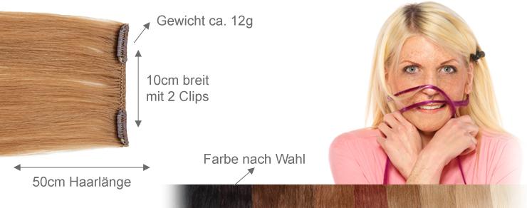 Clip-In 10cm Breite 50cm Länge