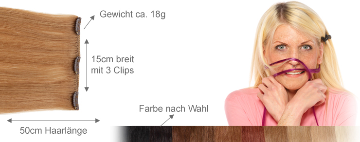 Clip-In 15cm Breite 50cm Länge