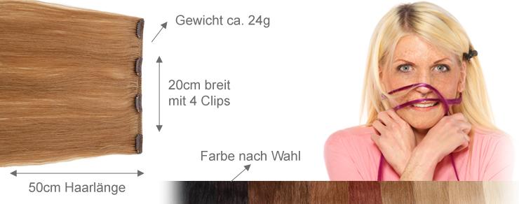 Clip-In 20cm Breite 50cm Länge
