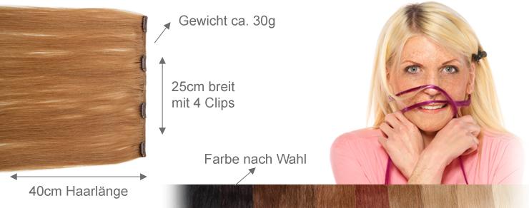 Clip-In 25cm Breite 40cm Länge