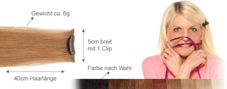 Clip-In 5cm Breite 40cm Länge