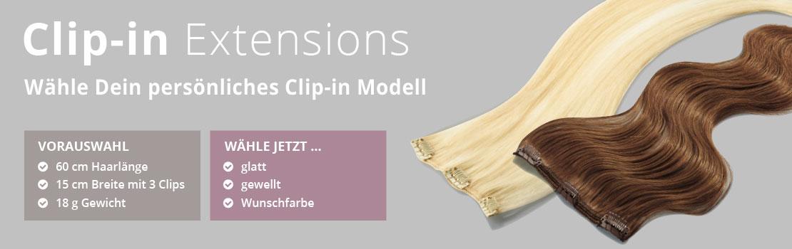 Clip-In 15cm Breite 60cm Länge