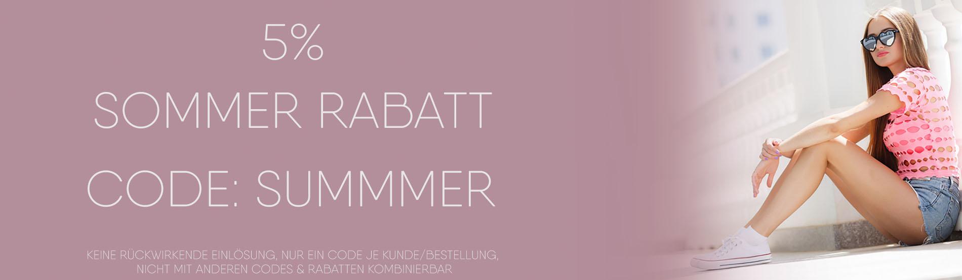 5% Sommer Rabatt