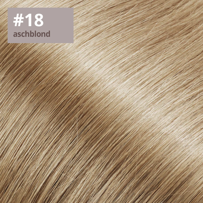 Extensions Farbe aschblond