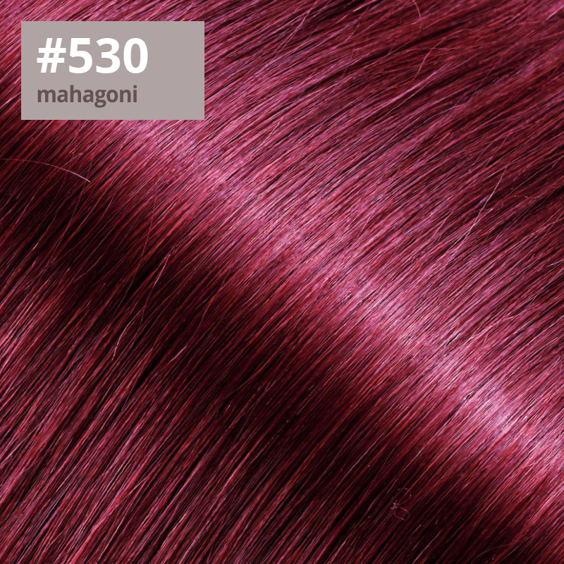 Extensions Farbe mahagoni