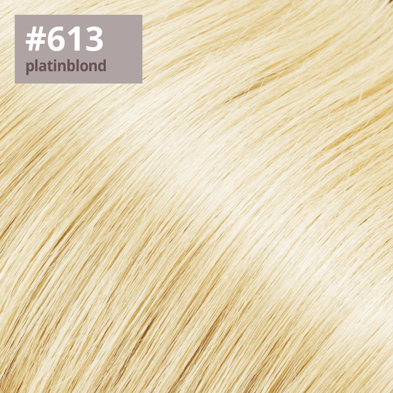 Extensions Farbe platinblond