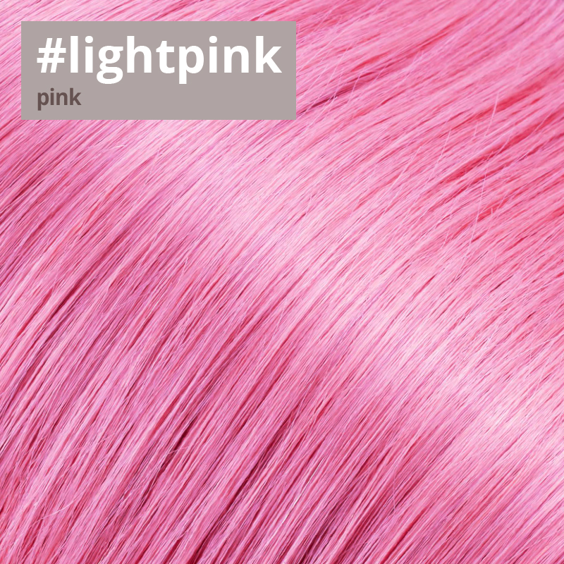 Extensions Farbe light pink