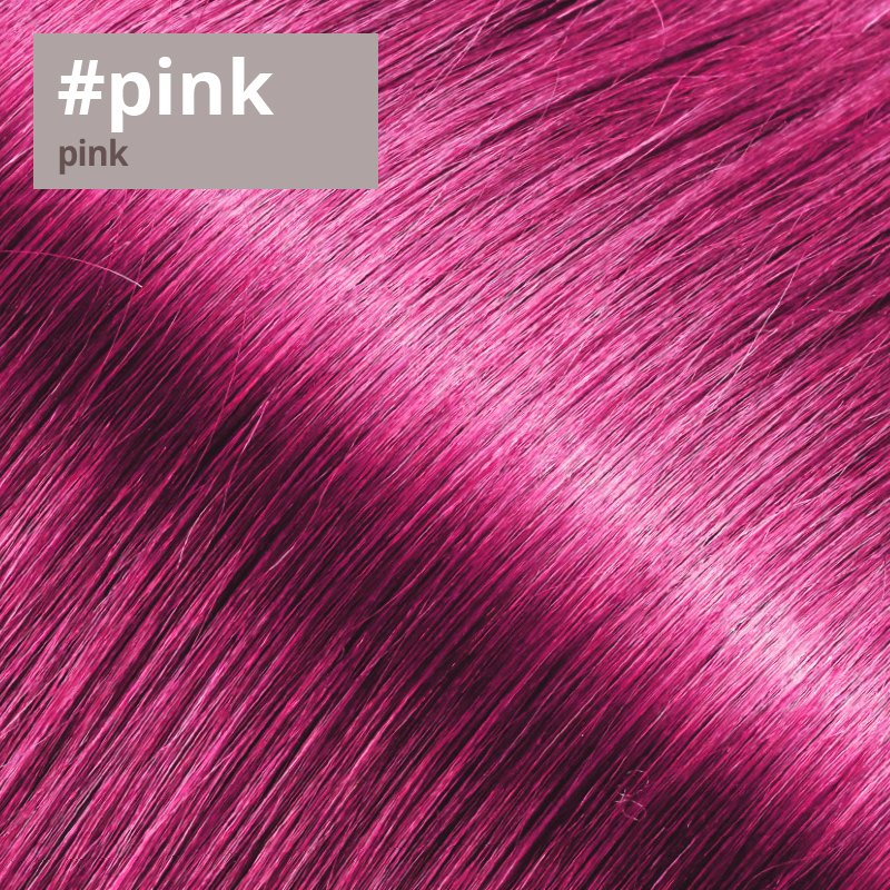 Extensions Farbe pink