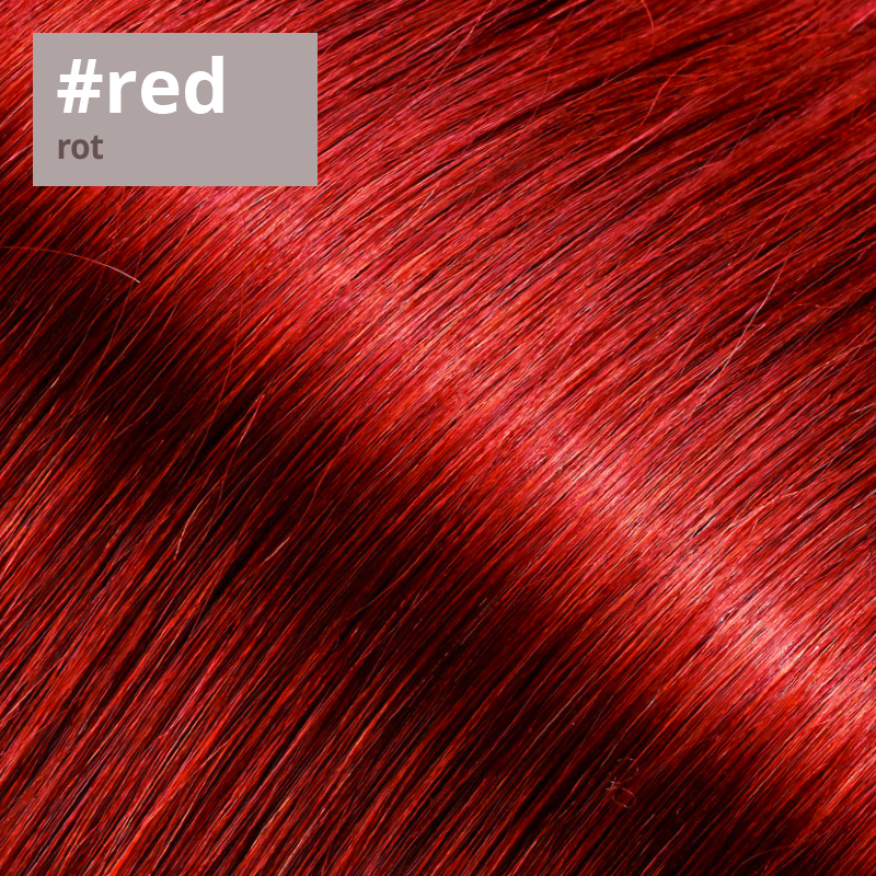 Extensions Farbe rot