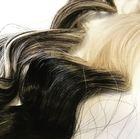 Links #60 weißblond mit #1b schwarzbraun gemischt als Balayage, rechts Ombrè #1b/60 weißblond / schwarzbraun