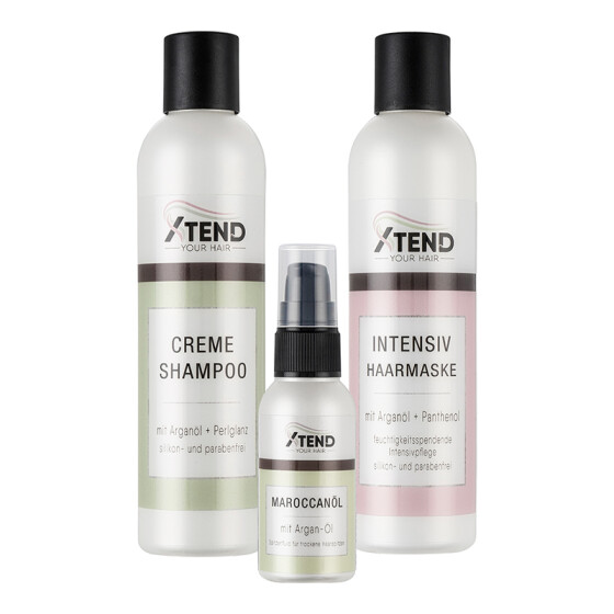 Spar-Set Xtend-your-Hair Pflegeserie - Shampoo - Intensiv Haarmaske- Maroccanoil