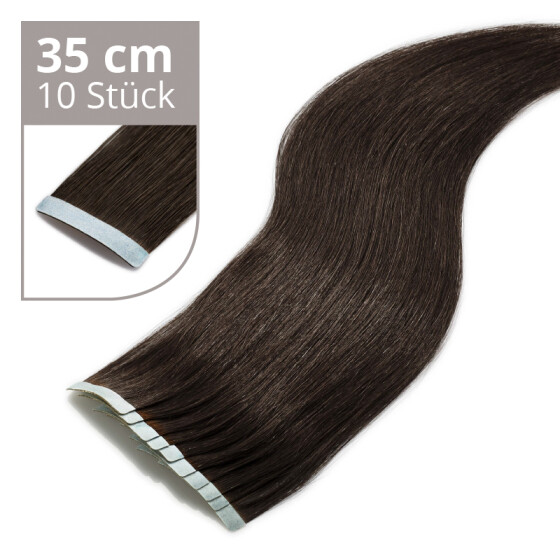 Tape On Extensions 35cm Länge SkinWeft -glatt- #1 schwarz