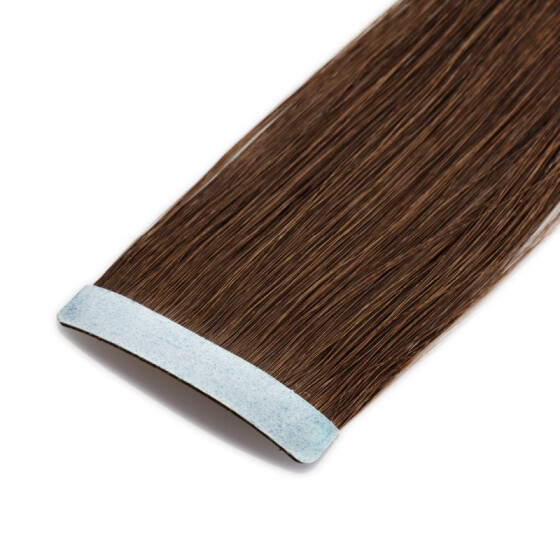 Tape On Extensions 35cm Länge SkinWeft -glatt- #2 dunkelbraun