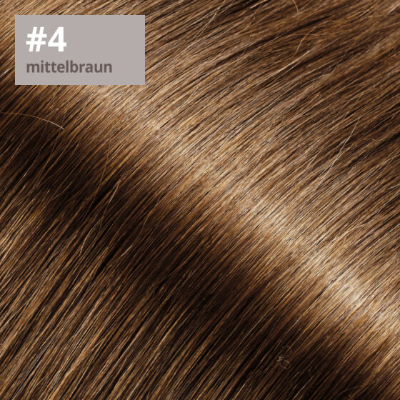 Tape On Extensions 35cm Länge SkinWeft -glatt- #4 mittelbraun