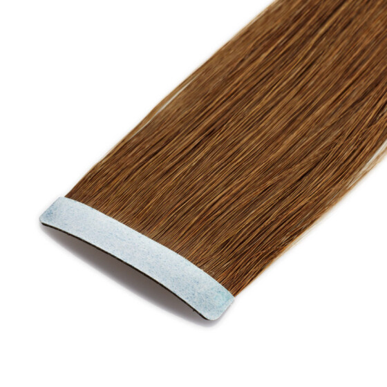 Tape On Extensions 35cm Länge SkinWeft -glatt- #6 kastanienbraun