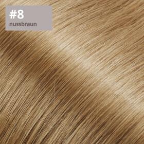 Tape On Extensions 35cm Länge SkinWeft -glatt- #8 nussbraun
