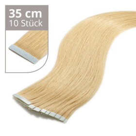 Tape On Extensions 35cm Länge SkinWeft -glatt- #12 honigblond