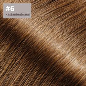 TapeOn Extensions 55cm Länge SkinWeft -glatt- #6 kastanienbraun