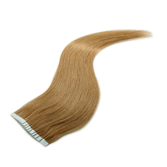 TapeOn Extensions 55cm Länge SkinWeft -glatt- #8 nussbraun