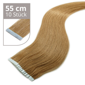 TapeOn Extensions 55cm Länge SkinWeft -glatt- #8...