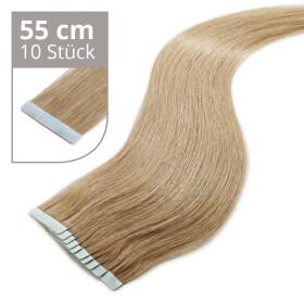 TapeOn Extensions 55cm Länge SkinWeft -glatt- #18...