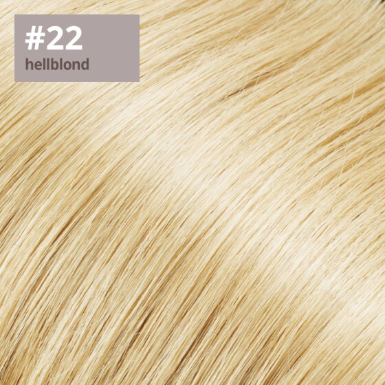 Microring Extensions - 40cm Länge - I-Tip 25 Stck. - 1g #22 hellblond