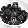 Microrings (Extensions Ringe) Eurolocks mit Silikon schwarz