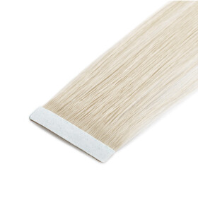 TapeOn Extensions 45cm Länge SkinWeft -glatt- #60 weissblond