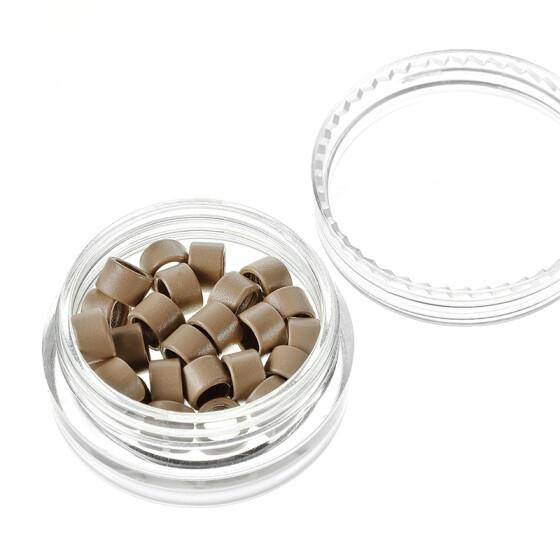 Microrings (Extensions Ringe) Eurolocks mit Gewinde dunkelblond