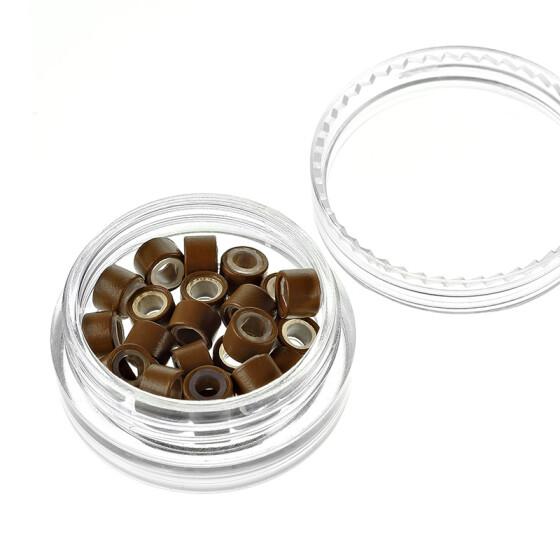 Microrings (Extensions Ringe) Eurolocks mit Silikon dunkelblond