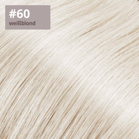 Microring Extensions - 60cm Länge - I-Tip 25 Stck. - 1g #60 weissblond