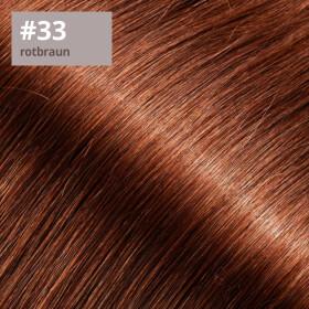 Microring Extensions - 50cm Länge - I-Tip 25 Stck. - 1g #33 rotbraun