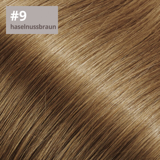 Tape On Extensions 35cm Länge SkinWeft -glatt- #9 haselnussbraun