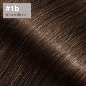 Tape On Extensions 35cm Länge SkinWeft -glatt- #1b schwarzbraun