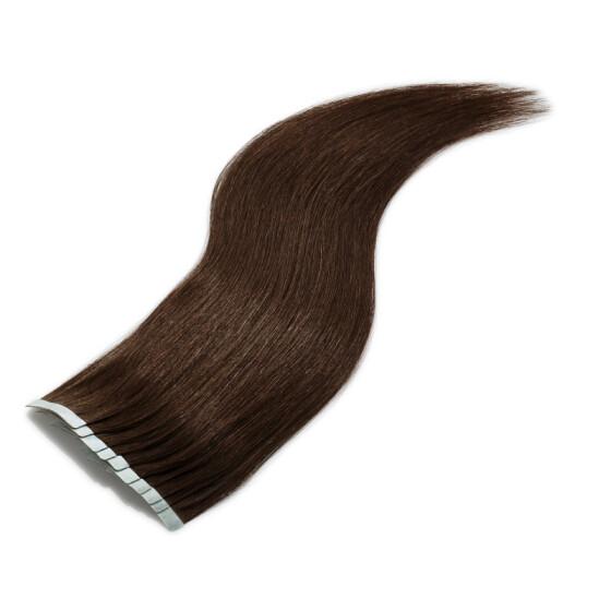 TapeOn Extensions 55cm Länge SkinWeft -glatt- #1b schwarzbraun