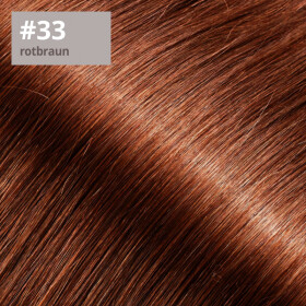 TapeOn Extensions 55cm Länge SkinWeft -glatt- #33 rotbraun