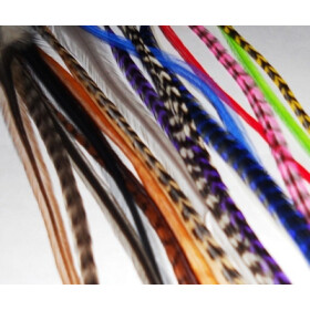 2 Stck. Feather - Extensions Federn yellow