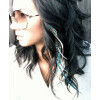 2 Stck. Feather - Extensions Federn orange