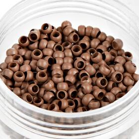 Ringe für Nanoring Extensions 500 Stck. hellbraun
