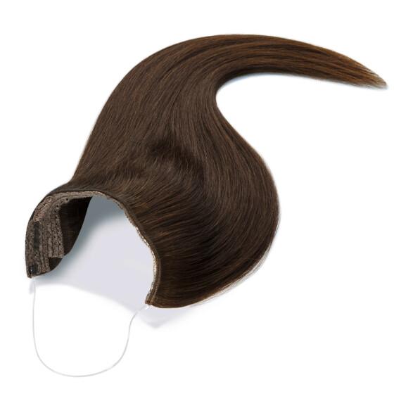Flip Extensions 110g 40cm Länge glatt #1b schwarzbraun
