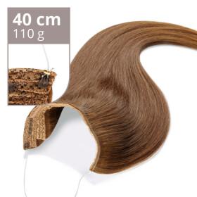 Flip Extensions 110g 40cm Länge glatt #6 kastanienbraun