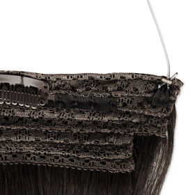 Flip Extensions 150g 50cm Länge glatt #1 schwarz
