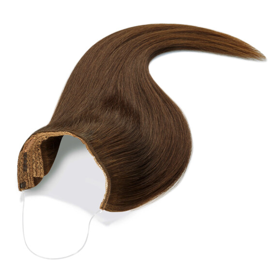 Flip Extensions 150g 50cm Länge glatt #2 dunkelbraun