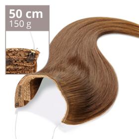 Flip Extensions 150g 50cm Länge glatt #6 kastanienbraun