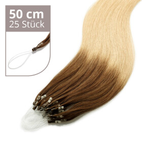 Microring Extensions - 50cm Länge - I-Tip 25 Stck. - 1g Ombre #6/#12