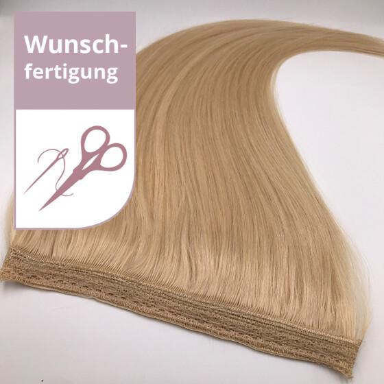 Tressenstück - Wunschbreite - 40cm länge glatt vierfach dicht vernäht